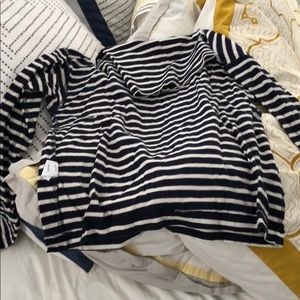 River and threat striped turtle neck